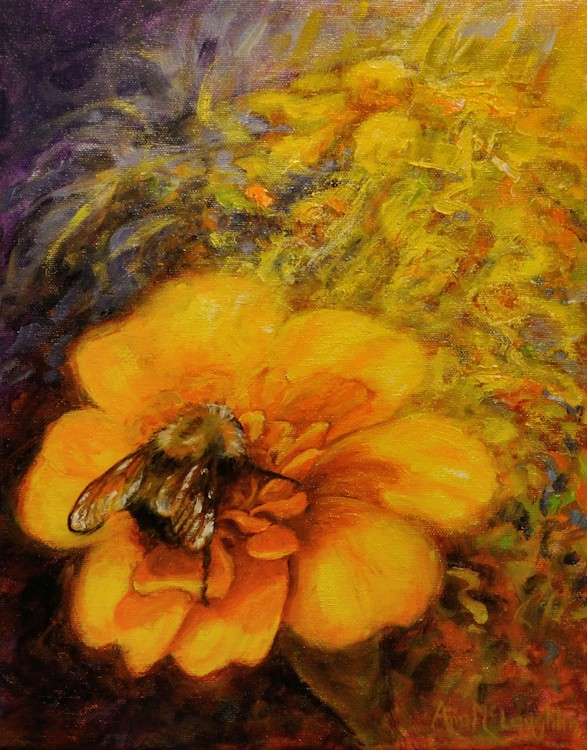 Honey Bee, Oil Painting by Ann McLaughlin