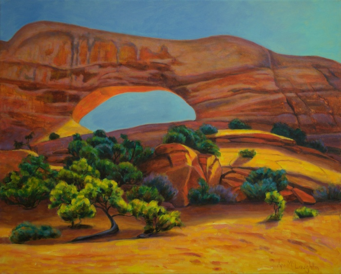 Wilsons Arch I, Landscape Oil Painting by Ann McLaughlin