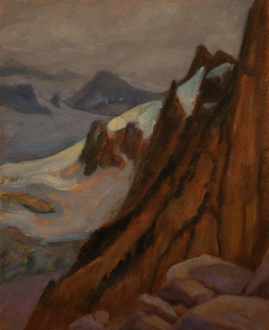 Bugaboos Glacier, Plein Aire Oil Painting by Ann McLaughlin