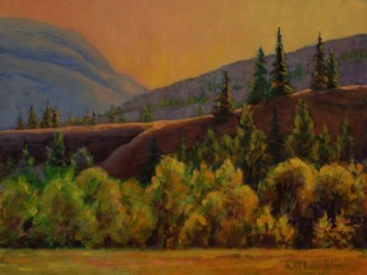Light on the Escarpment, Plein Aire Oil Painting by Ann McLaughlin