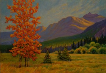 Fall on the Plains, Plein Aire Oil Painting by Ann McLaughlin