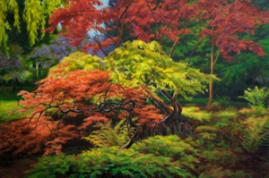 Beacon Hill Maples, Oil Painting by Ann McLaughlin