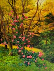 Magnolia, Oil Painting by Ann McLaughlin