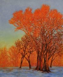 Orange Light, Oil Painting by Ann McLaughlin